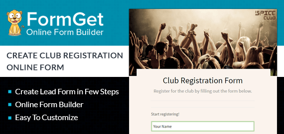 Club Registration Form Slider
