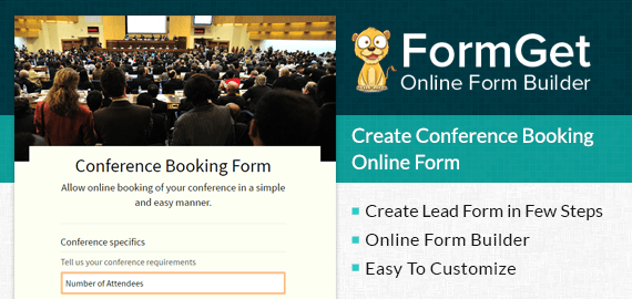Conference Booking Form Slider