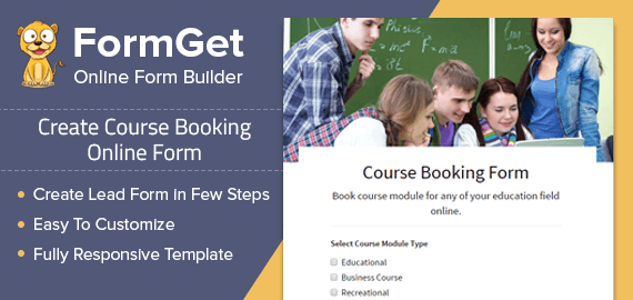 Course Booking Form Slider