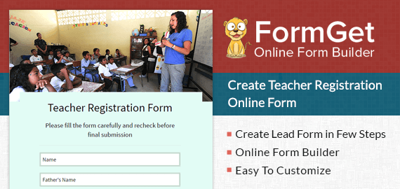 Create Teacher Registration Form For Schools, Coachings & Training Institutes