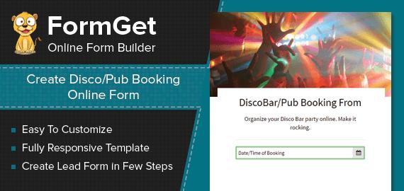 DiscoPub Booking Form Slider