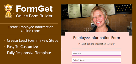 Employee Information Form Slider