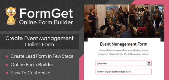 Event Management Form Slider