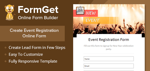 Event Registration Form Slider