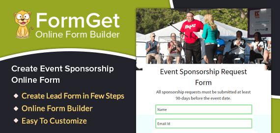 Create Event Sponsorship Request Form For Elite Event Sponsors & Organization Partners