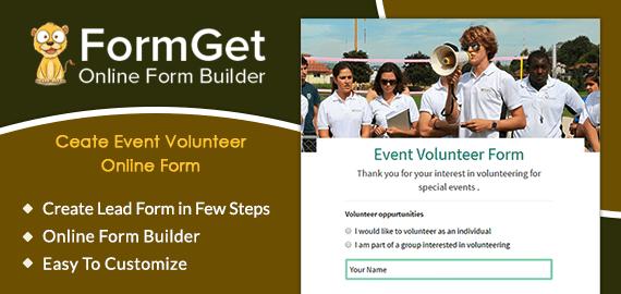 Event Volunteer Form Slider