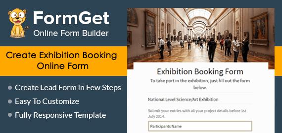 Exhibition Booking Form Slider