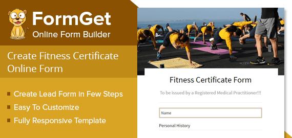 Fitness Certificate Form Slider