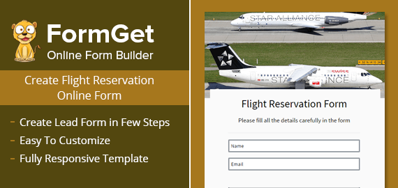 Flight Reservation Form Slider