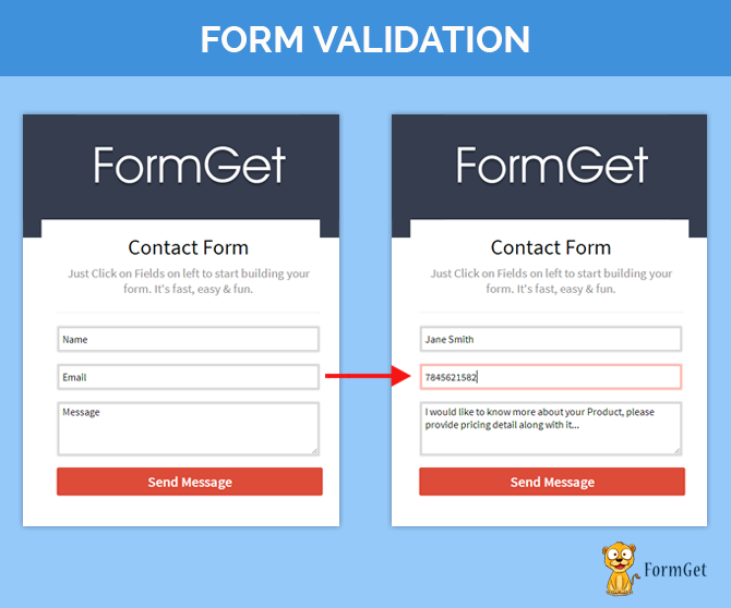Form-validation-make sure that you enter the correct data
