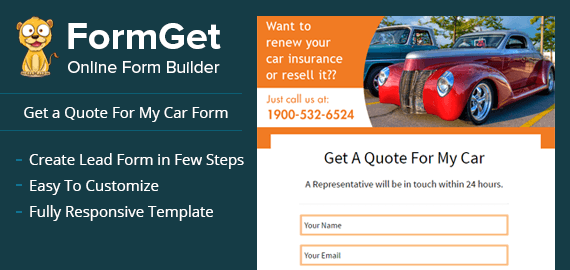 get a quote for my car form for auto insurance  u0026 advisor