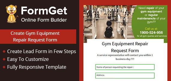 Gym Equipment Repair Request Form Slider