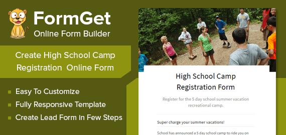 High School Camp Registration Form Slider