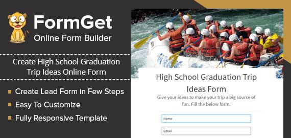 High School Graduation Trip Ideas Form Slider