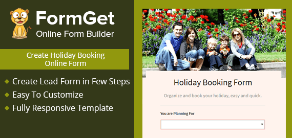 Holiday Booking Form Slider