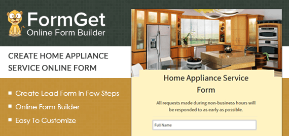 Create Home Appliance Service Form For Instrument & Device Repairing Companies