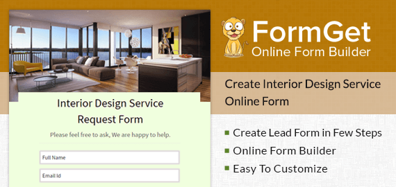 Interior Design Service Request Form Slider