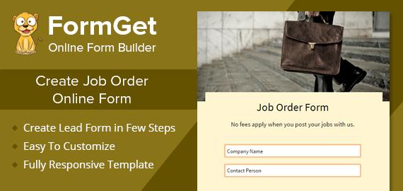 Job Order Form Slider