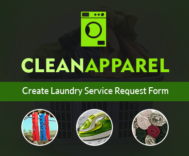 FormGet – Create Laundry Service Request Form For Launderers & Dry Cleaners