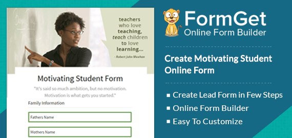 Motivating Student Online Form Slider
