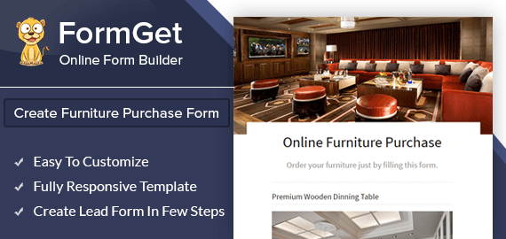 Online Furniture Purchase Form Slider
