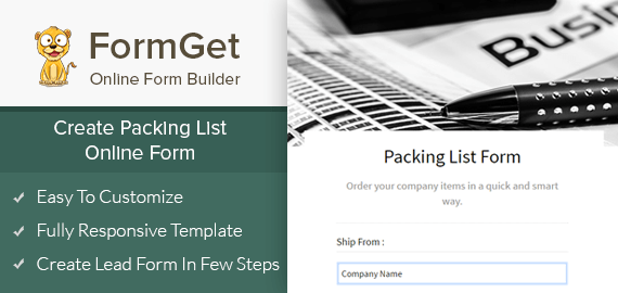 Packing List Form Slider