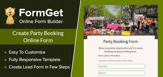 Party Booking Form Slider
