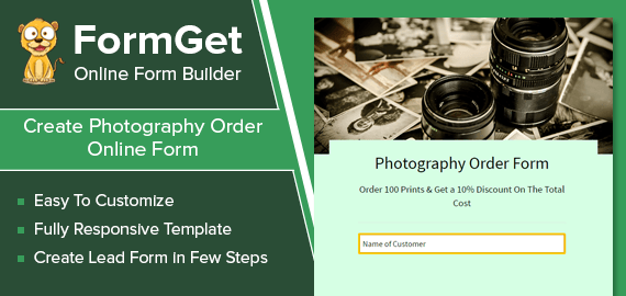 Photography Order Form Slider
