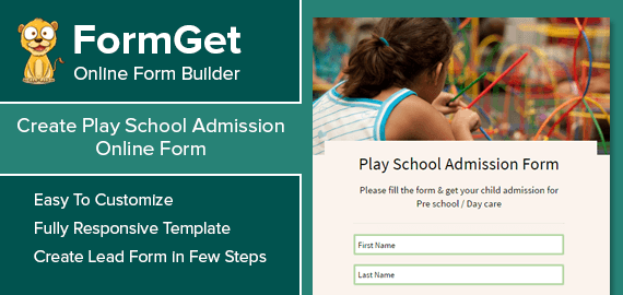 Play School Admission Form Slider