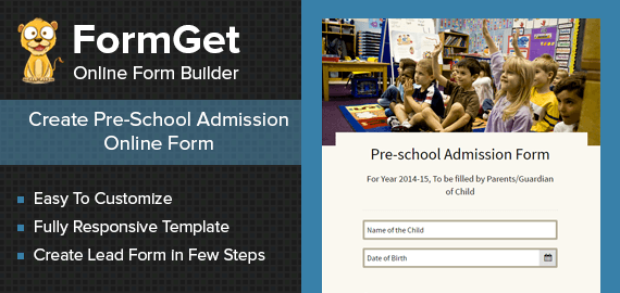 Pre-school Admission Form Slider