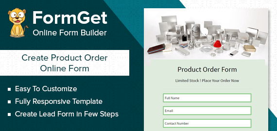 Product Order Form Slider