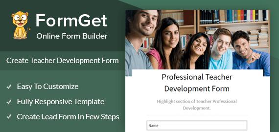 Professional Teacher Development Form Slider
