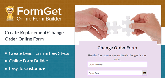 ReplacementChange Order Form For Online Shopping Stores
