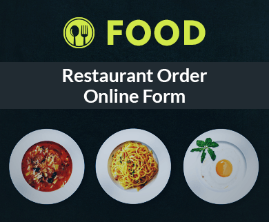 FormGet – Create Restaurant Order Form For Bars, Restaurants & Food Plazas