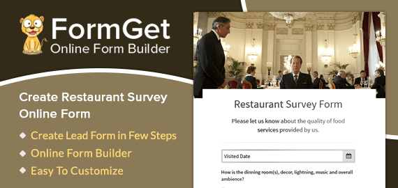 Restaurant Survey Form For Restaurants, Hotels & Food Cafe