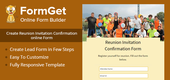 Reunion Invitation Confirmation Form Slider