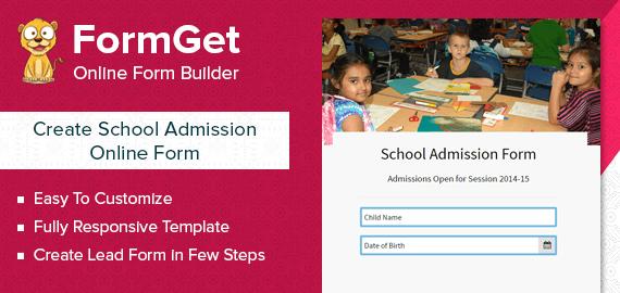 School Admission Form Slider