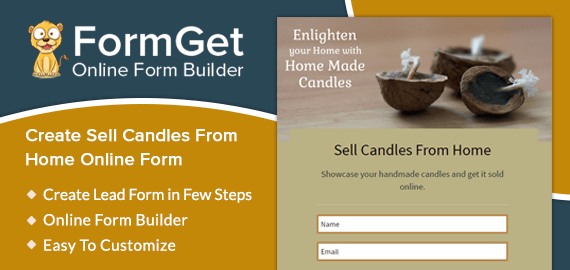 Create Home-made Candle Selling Form For Private & Local Candle Manufacturers