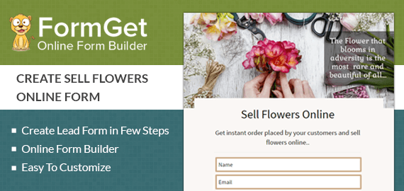 Sell Flowers Online Form Slider