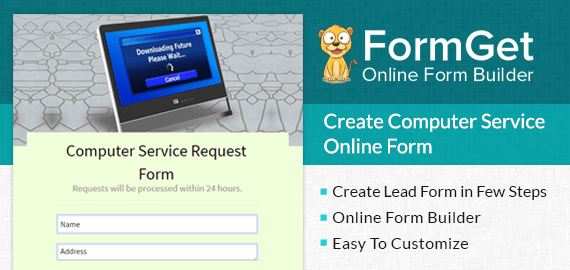 Create Computer Service Request Form For Repairing Shops