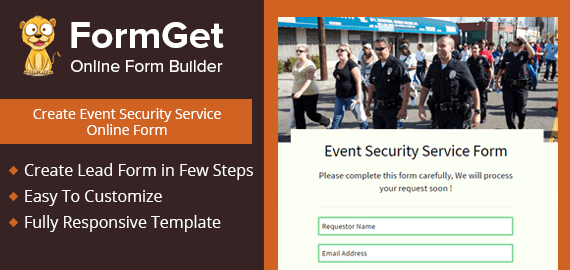 Create Event Security Service Form For Security Service Providers