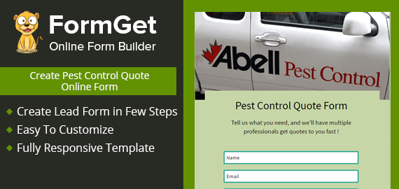 Create Pest Control Quote Form For Extreminator & Pest Controllers