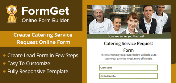 Create Catering Service Request Form For Caterers & Food Service Providers