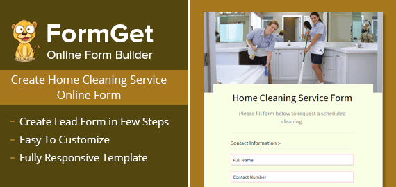 Create Home Cleaning Service Form For Home Cleaning Companies