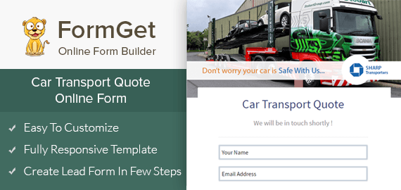 Create Car Transport Quote Form For Vehicle Carriers & Movers