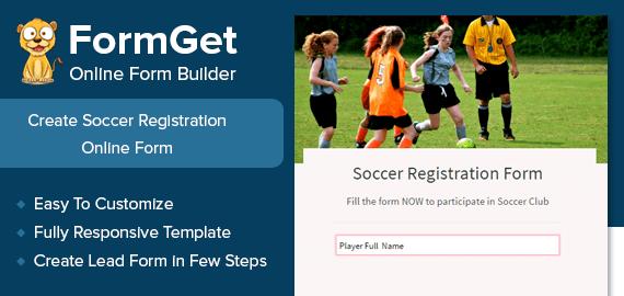 Soccer Registration Form Slider