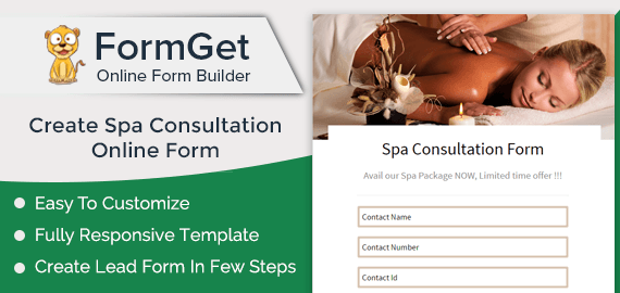 Spa Consultation Form Slider