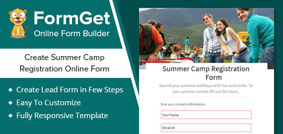 Summer Camp Registration Form Slider