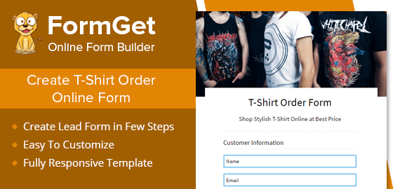 T-Shirt Order Form Slider