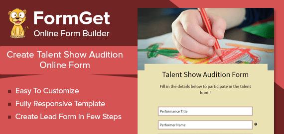 Talent Show Audition Form Slider